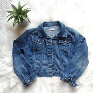 Maternity Jean Jacket sz M * Old Navy * EUC!